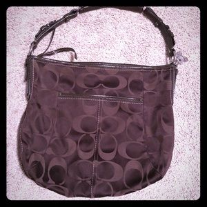 Coach Large signature soho hobo -Brown